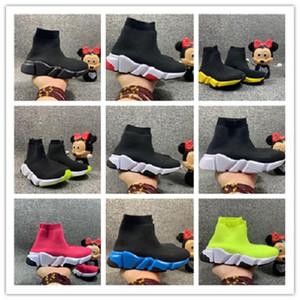 Kids Speed Trainer Runner Sneakers Schwarz Rot Triple Black Oreo Mode Flache Socken Stiefel Junge Frauen Freizeitschuhe Größe 24-39