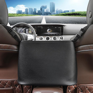 Car Between Seat Organizer PU Leather Storage Bag Barrier of Backseat Pet Kids Car Accessories Backseat Protector Cover