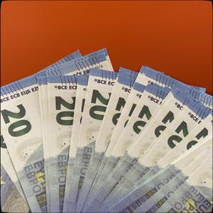 20 euro Play Paper Paper Stampato denaro giocattoli Pop money Toy per bambini Regali di Natale o puntelli cinematografici 09