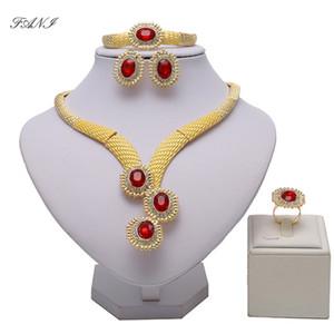 Fani Nigerian Wedding woman accessories jewelry set Wholesale Fashion Dubai Gold Color Jewelry Set statement jewelry set Z1201