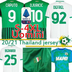 Sassuolo Soccer Jerseys 100e Centenary Berardi Boga Locatelli 2020 2021 Maglietta Calcio Traore 2020 2021 T-shirts de football S-4XL 20 21 21