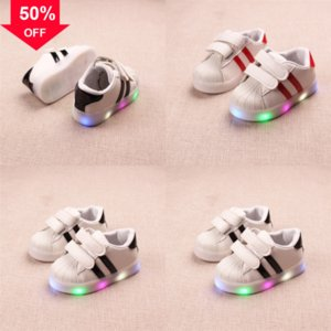 Licht Ladeoptik Jungen Schuhe Kinder Faser LED SHOE LAS MIT SOE ENFANT LED Größe glühende leuchtende Turnschuhe für Mädchen Schuhe Kinder LED SHO