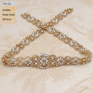 Hot sale exquisite 893 Handmade Diamond handmade dress belt accessories wedding bridal accessories decals Diamond decals uCYUo