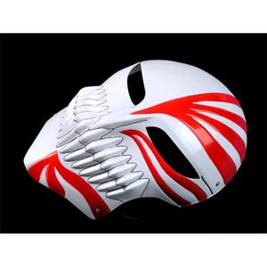 Маска смерти Ичиго Куросаки Bleach 2020 Рождественский танец пластиковая маскарадная вечеринка Косплей Хэллоуин Полное лицо Черная красная крутая маска