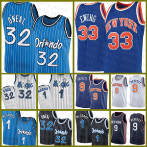 Shaquille Penny 1 Hardaway 32 O'Neal RJ 9 Barrett Patrick 33 Ewing OrlandoNouveau magieYorkJersey Basketball Jersey Magics B