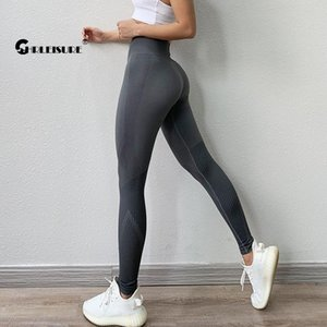 CHRLEISURE Fitness Seamless Yoga Pants High Waist Workout Gym Leggings Tummy Control Energy Sports Legging Running Activewear