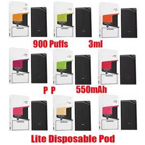 New Lite Disposable Device Kit 550mAh Battery Vape 900 Puff Pre-Filled 3ml Pod Cartridge For GST Bang Plus XXL Max Flow