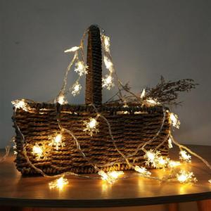 2 m 10 ışıklar led dize ışıkları Noel kar tanesi Noel ışıkları yanıp sönen ışık dize ışık pil kutusu XD24241