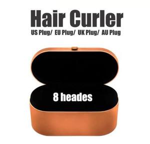 Curador de pelo Multifunción Dispositivo de estilo para el cabello Automático Curling Hierro 8 Head Caja de regalo Hottest 24 horas FAST SHIPTHTTOUP CALIDAD 8 cabezas Mult
