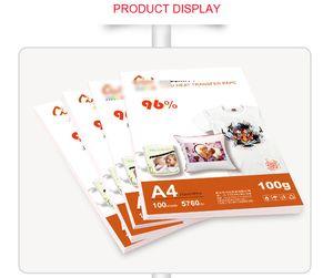 100 Sayfalar A4 Boyutu Süblimasyon Isı Transferi Kağıdı, 100gsm Kağıt, Giyimde Kullanım, Tişört, Kupa, Yastık vb FSSF
