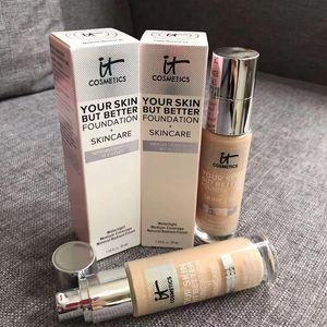 Hot Cosmetics Ваша кожа, но лучшее основание + уход за уходом на уход за уходом на кожей Нейтральный носитель Neuther Neuthnation 30ML осветляет Concealer Бесплатная доставка