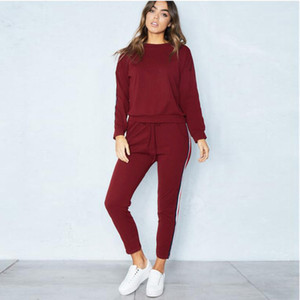 Fashion Women Tracksuit Long Sleeve T Shirts Tops + Pants Leggings Two Piece Set Outfits Casual Sportswear Streetwear Clothes 2020 Gifts