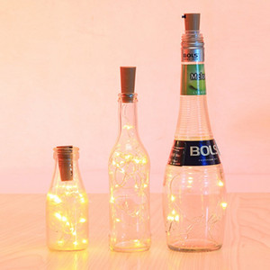 Led Solar Energy Bottle Stopper Lamp LED Copper Wire Decorative Lamp String Festival Sky Star Decorative Lamp