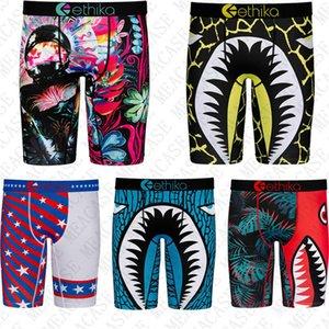 New Shark Mens Long Bottoms Underwear Quick Dry Boxers Swimwear Beach Shorts Panties Sports Seaside Short Pants Legging Underpants D72707