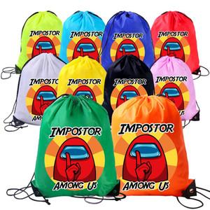 Among Us Anime Game Cartoon Drawstring Backpack Students Boys Girls Waterproof Drawstring Bags Children Portable Organizer Backpacks E112301