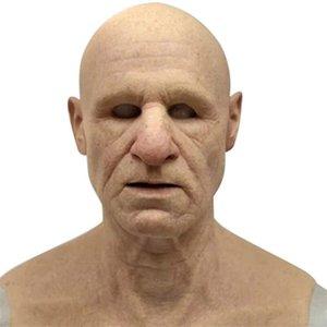 Old Factory Man Un altro Me-the Wrughe Elder, Maschera per il viso, Maschera intera in lattice per Masquerade Halloween Party realistico D