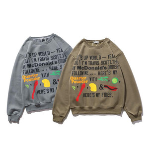 New Autumn Winter Sweatshirts For Men Women the fashion Travis Scott Long sleeve Sweater Hoodies Gray Khaki Mens Stylist Sweatshirts