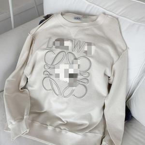 New Loe Luojia Letter Letter Imbambi per ricamo sciolto maglione girocollo per le donne