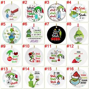 Grinch 검역 크리스마스 장식 크리스마스 장식품을 매달려 크리스마스 트리 장식에 대 한 마스크 디자이너 2020에 대 한 맞춤형 딸