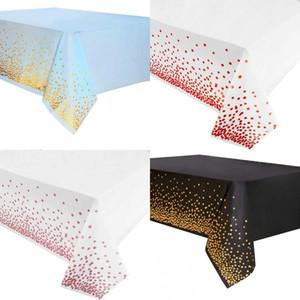 Dot tablecloth المتاح التذهيب التذهيب متعدد الألوان الأزياء مريحة غطاء الجدول الديكور المطبخ حزب اللوازم الهدايا 2 6WP K2