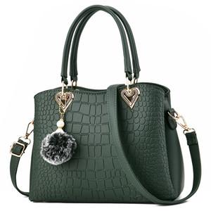 Fashion Bag EFFINI Soft PU Leather Messenger Bag Female Large Capacity Handbag Totes Bag for Women Shoulder Bags 2021 Green Color