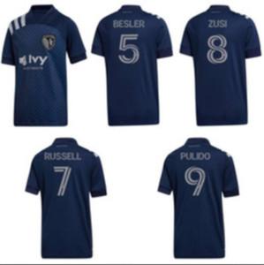2020 Sporting Kansas City Soccer Jersey 20/21 # 9 Пулидо № 11 Шелтон Рассел Униформа № 17 Kinda # 19 Хуртдо Гутьеррез Футбольные рубашки