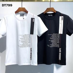 DSQ PHANTOM TURTLE 2021SS New Mens Designer T shirt Paris fashion Tshirts Summer DSQ Pattern T-shirt Male Top Quality 100% Cotton Top 1080