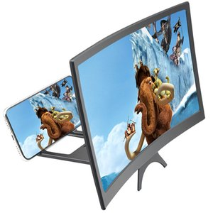 12 inch curved mobile phone screen magnifier 3d high-definition screen magnifier multifunctional lazy bracket creative accessories