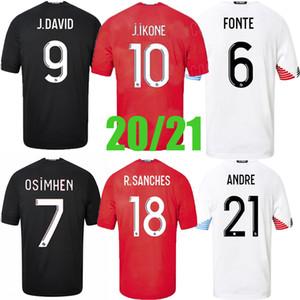 Top 2020 2021 Lille OSC-Fußball-Trikots Remy Fonte Bamba Yazici Football Hemden 20 21 Lille Olympique 75th Jikone Männer Uniformen Thailand