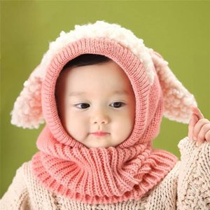 Outlet 2021 New Children's hat keep warm in autumn and winter 3-year-old boy   girl 6-year-old 5-year-old 4-year-old fashionable scarf sui