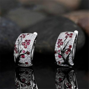 New Creative Fashion Jewelry Inlaid With Zircon Plum Blossom Branch Earrings For Women Luxury Namour Charm Gift All Seasons