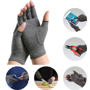 1Pair Compression Arthritis Gloves For Women Men Open Fingers Pain Relief Pressure Gloves Thin Breathable Cycling Fitness Mitten