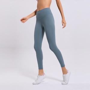 Material nua mulheres yoga calças sólidas cor esportes ginásio desgaste leggings cintura alta elástica fitness senhora global tants treino