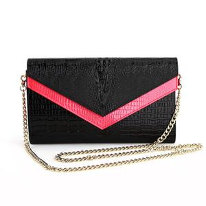 Berühmte Marke Designer-Handtasche echte Leder Frauen Umhängetasche Kette täglich Kupplung Farbe traf für Parteiabend Q1116