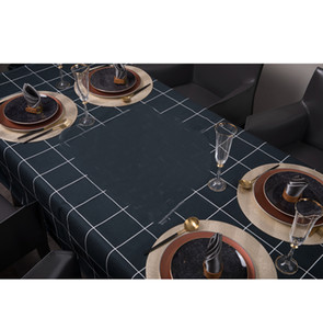 Waterproof Table Skirt Classic Letters Printed Table Cloth Dustproof Scald Proof Tablecloth Desk Shoebox Coffee Tables Fridge Covers