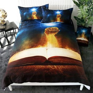 3d Fist on fire Bedding Set,Bed Cover Set Cartoon Duvet Cover Set with Pillowcases,Adult Kids Home Bedroom Decor Bed