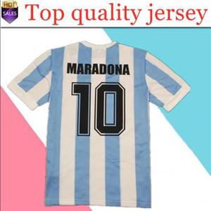 1986 Arjantin Retro Klasik Vintage Diego Maradona Jersey Futbol Jersey Camisa De Futebol Jersey Yetişkin Futbol Gömlek Tayland Kalite