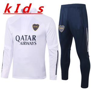Kids 20 21 Boca Juniors Tracksuit Tevez الركض كرة القدم كيدز 2020 2021 Boca Juniors تدريب دعوى Survetement Chandal Futbol Soccer Kit