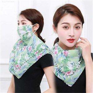 Mascarilla de seda del velo fino 2020 cara UV Scarf Funda para el oído Nuevo Protector Riding Protección Mujer Cuello Jwoob XOQXE