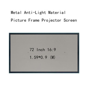 Thinyou 72inch 16:9 Projection Screens Wall Mounted Picture frame Metal Anti-Light Material 4.5 CM frame HD projector screen