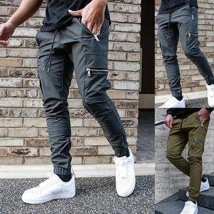 Sports Pants Men Tactical Jogging Pants Cargo Pant Men Jogger Drawstring Long Sweatpants Trousers Multi-pocket Skinny Cargo Pant