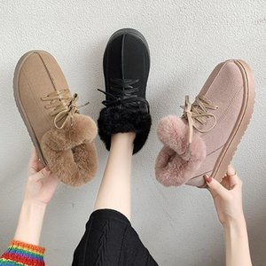 Hot Sale-2020 Winter Women Snow Boots Fashion Ankle Boots Platform Chunky Woman Shoes Designers Brand Padded Keep Warm Ladies