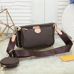 3 Pcs set Favorite Multi Pochette Accessories Women Crossbody Purse Messenger Bags Handbags Flowers Designer Shoulder Lady Leather bag