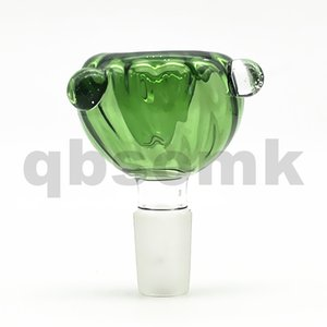 QBsomk Colorful Bowl For Glass Bongs Funnel Bowls Pipes High Quality Slides Bong Smoking Oil Rigs Pieces With 14mm 18mm Slide Dab Free Shipp