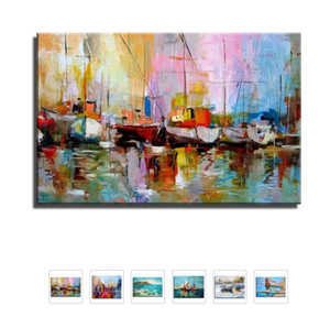 Hand painted Canvas Painting Wall Art Abstract Landscape Oil Painting Home Decoeation Artist Painted Living Room Wall No Frame Z1202