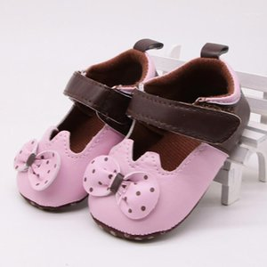 WeIxinBuy Nouvelle petite fille Chaussures Baby Soft Shoes Soft Pu Polka Dots Bowknot Bas-Slip Fashion princesse Crib1