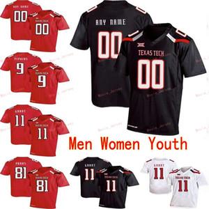 مخيط مخصص 10 ألين بومان 11 ديريك ويليز 11 جاكيم منح 12 كولت جاريت تكساس تك كلية الرجال النساء الشباب جيرسي