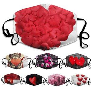 Valentine يوم قناع الوجه زوجين مرشح الغبار غسلها هدية عيد أقنعة الرجال النساء الخوخ القلب الحب faceMask شحن مجاني