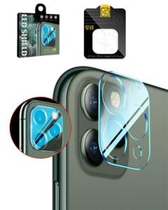9h Lente de la cámara de cristal templado para iPhone 12 Mini 11 Pro Max Back Cámara Pantalla de película Protector Funda completa 3D