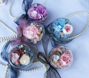 Sevgililer Günü Yaratıcı Hediye Araba İç Ebedi Çiçek Büyük Gül Göndermek Kız Arkadaşı Araba Asılı Temizle Topu Dekoratif Çiçekler
